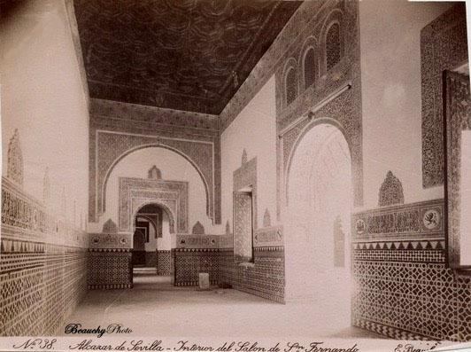Interior del Salón de San Fernando del Alcázar de Sevilla