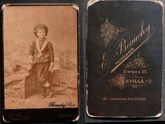 Beauchyphoto_Niño_de_marinero_y_reverso_Emilio_Beauchy_Cano_fotografias_antiguas_postales_retratos