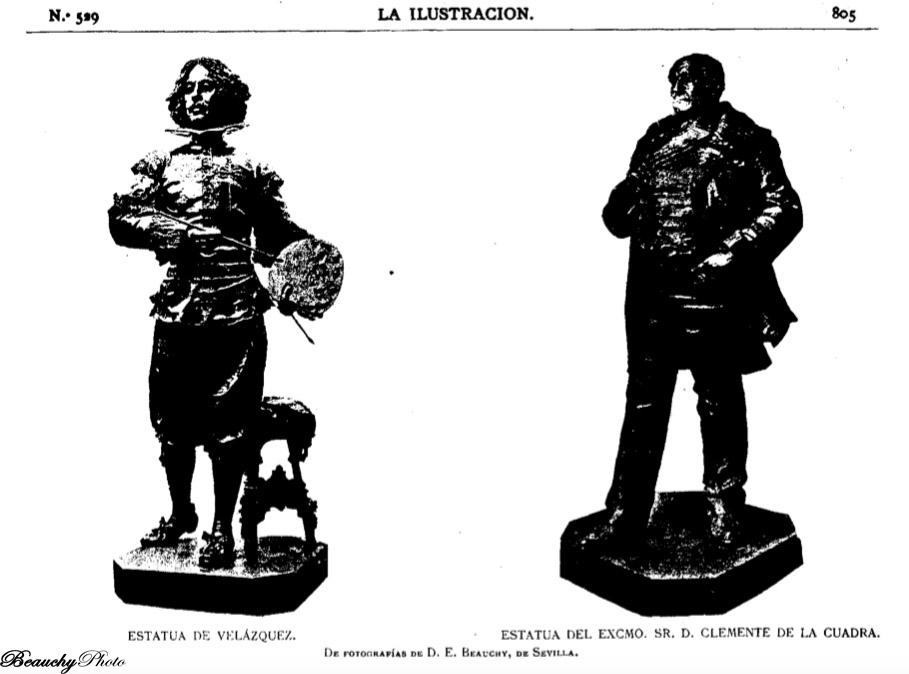 Fundidas en bronce las esculturas de Velázquez y D. Clemente de la Cuadra